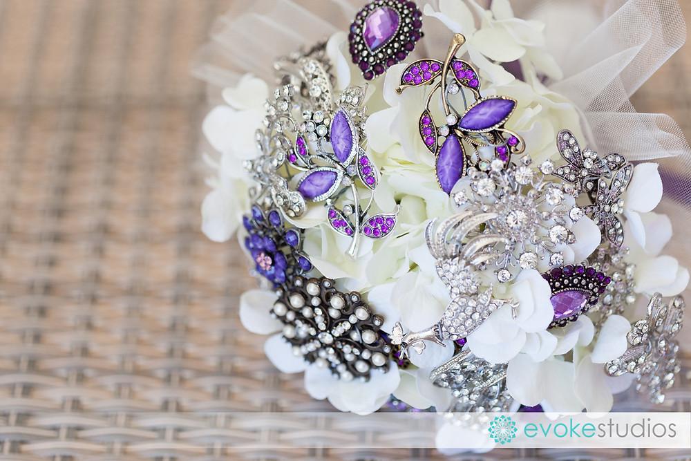 Broch wedding bouquet