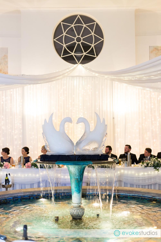 Wedding reception ice sculpture