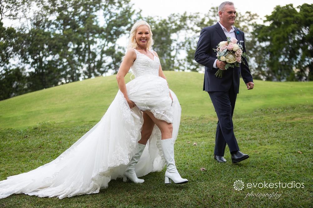 Gogo boots wedding shoes