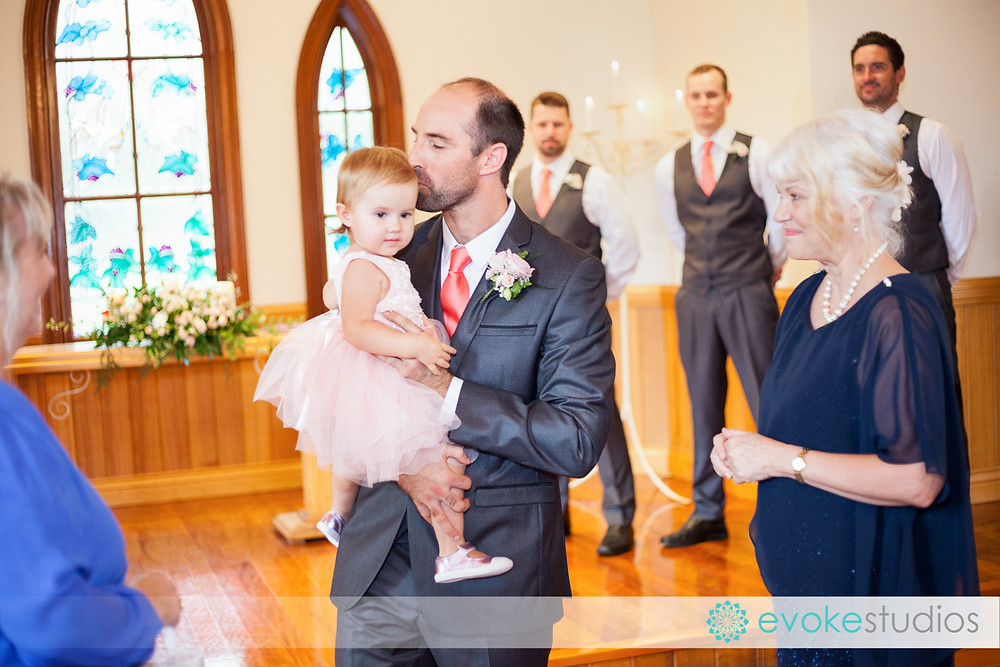 Groom with flowergirl