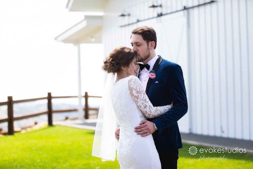 White barn wedding