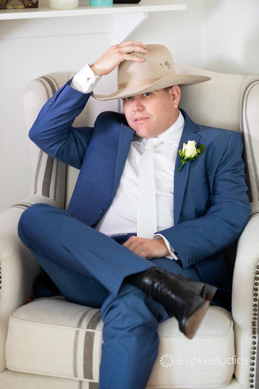 Country modern groom