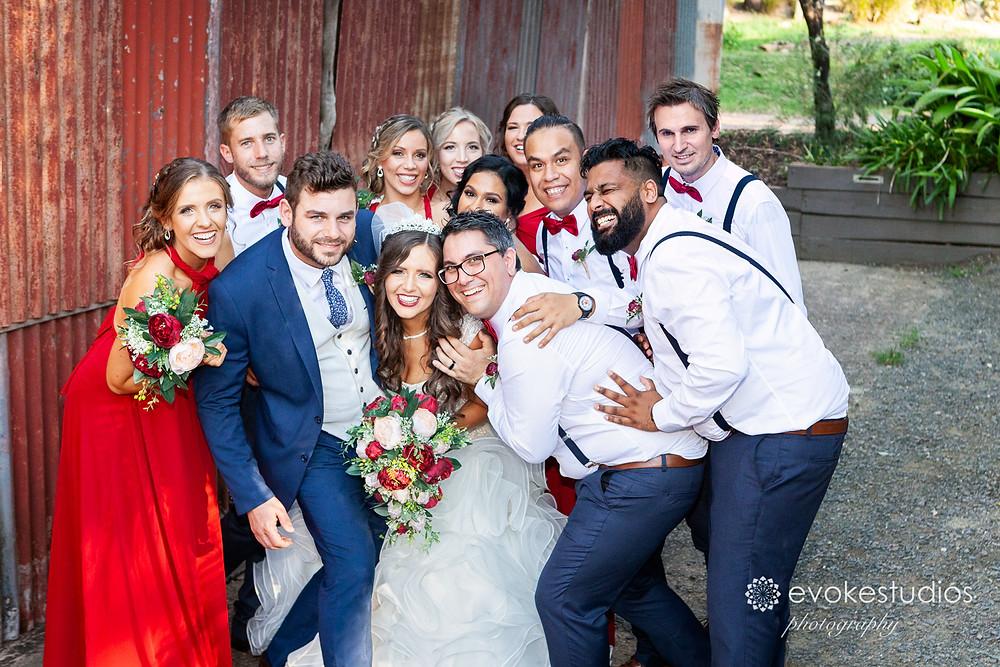 Bridal party cedar creek