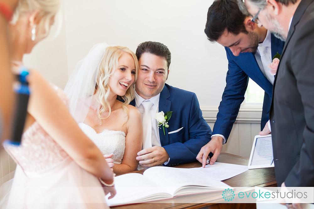 Signing wedding ceremony