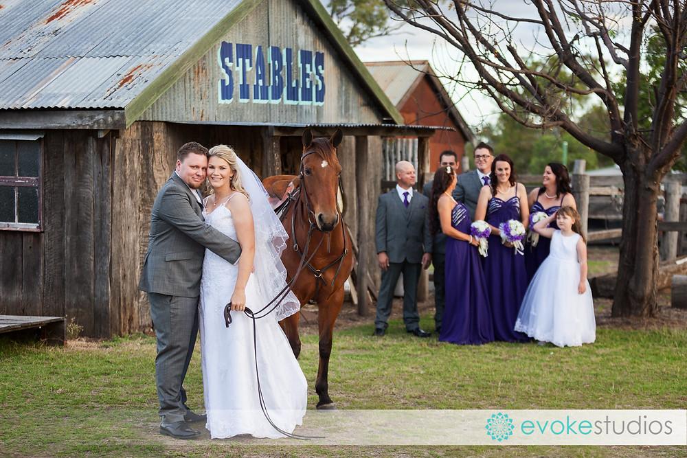 Woolshed wedding