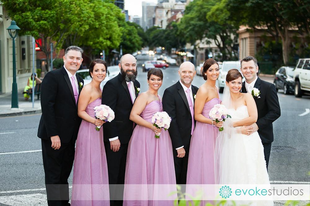 Bridal party brisbane city