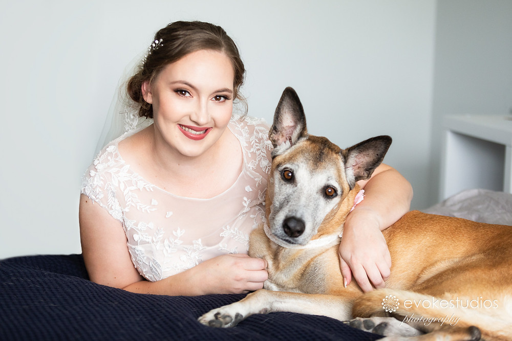 Bride with pets