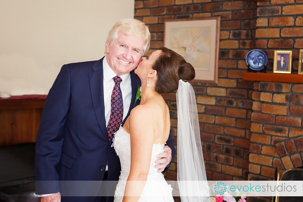 Kiss dad