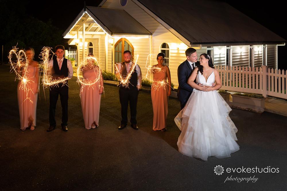 Love wedding sparklers