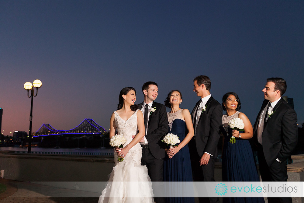 Bridal party story bridge