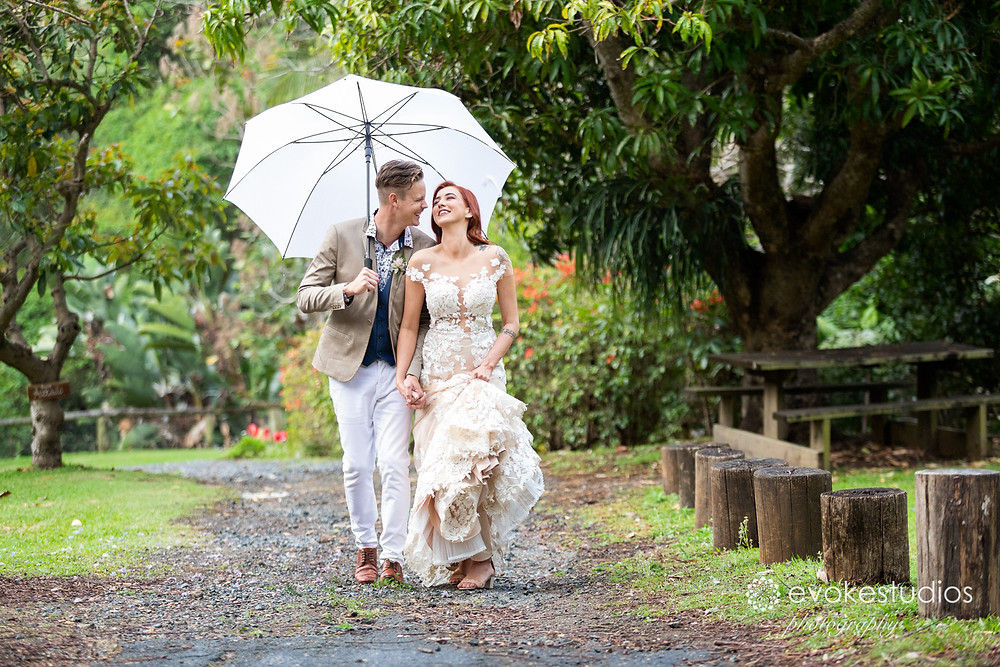 Rainy day wedding photographer