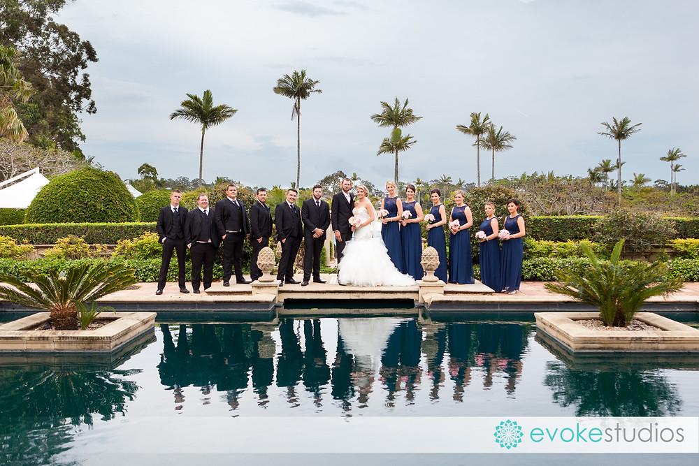Wedding photography large bridal party