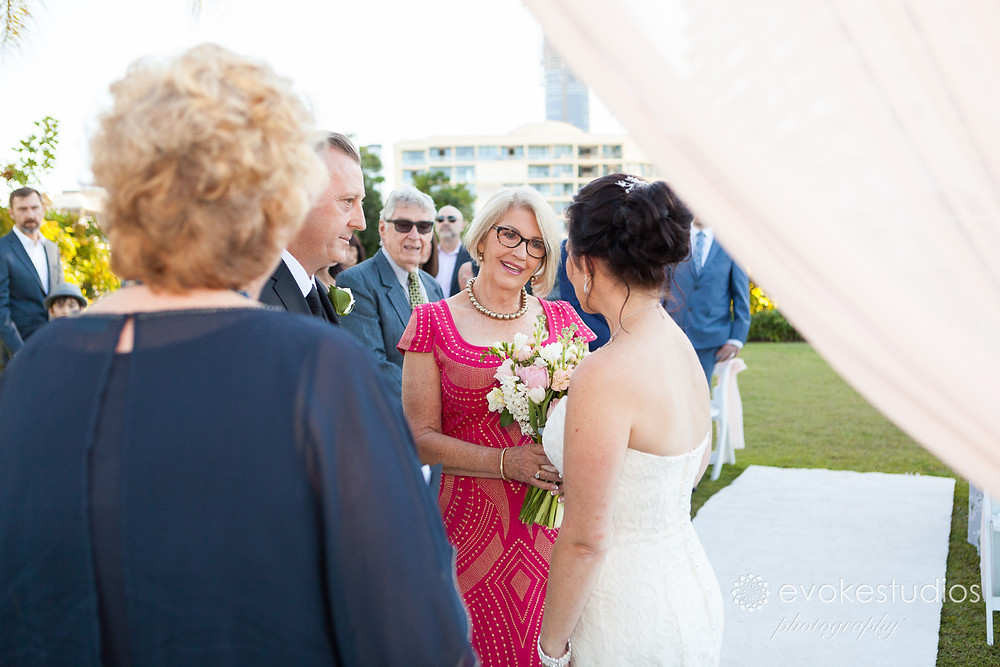 Wedding dockside landing