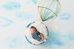 hot hair balloon newborn photo