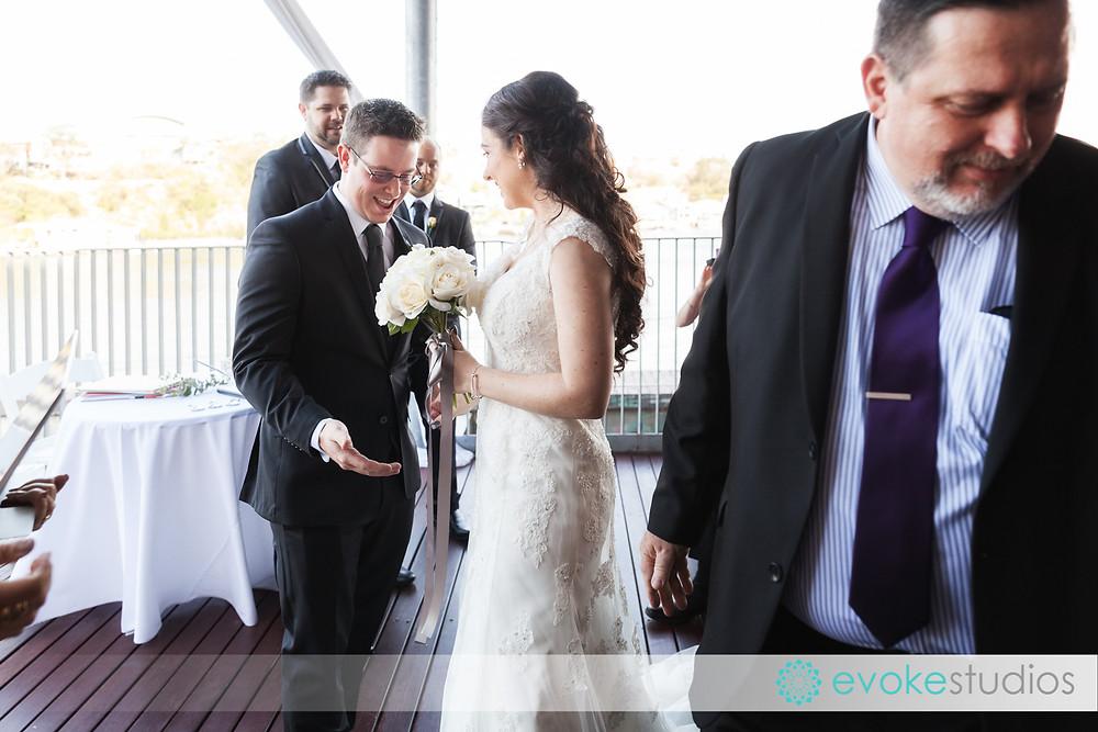 First look of groom