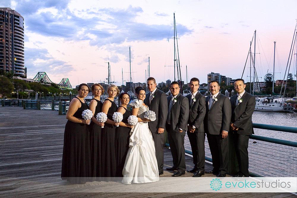 Dockside wedding