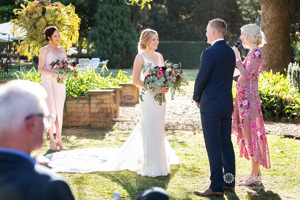 Gabbinbar wedding ceremony