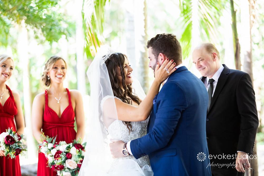 Wedding ceremony cedar creek