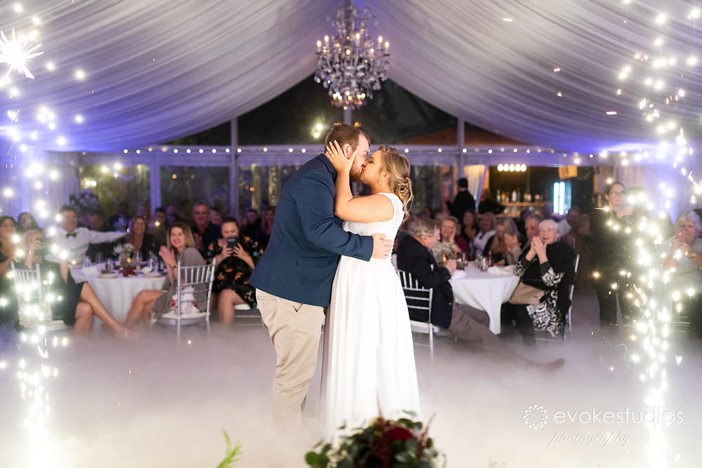Bridal waltz with fireworks