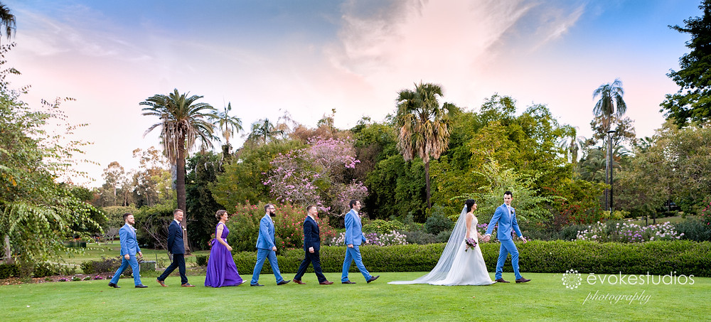Botanical gardens wedding photographer