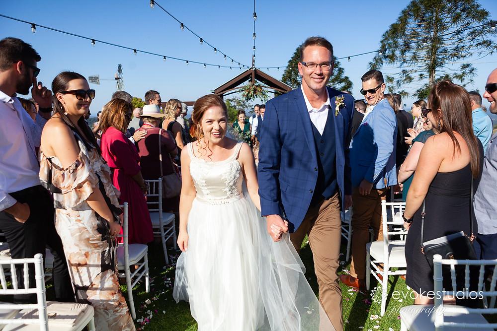 Wedding ceremony Flaxton gardens