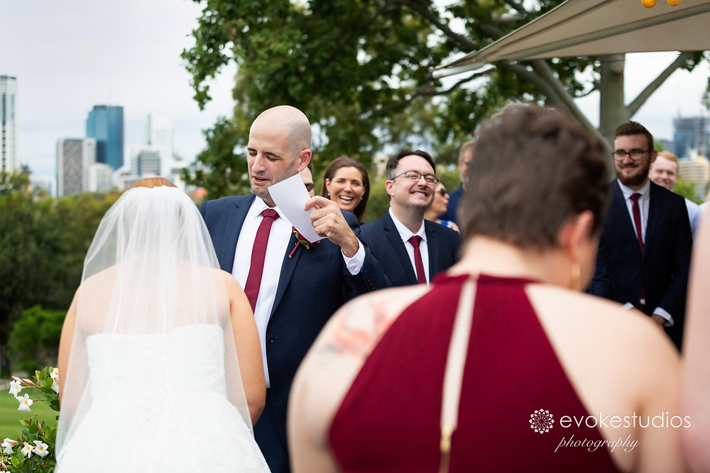 Victoria Park wedding ceremony