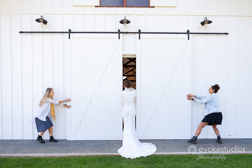 Wedding photography first look