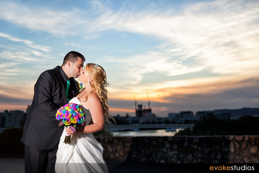 Wedding photography sunset