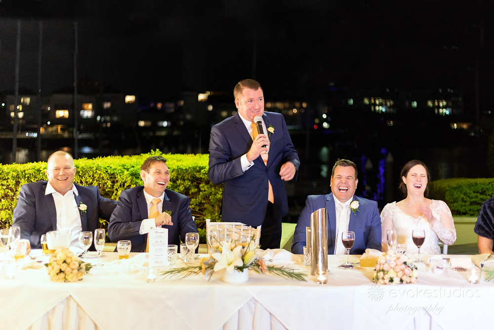 Wedding reception brisbane river