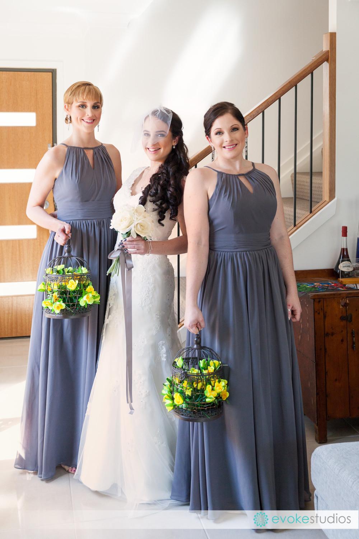 Bride cage bridesmaid bouquets
