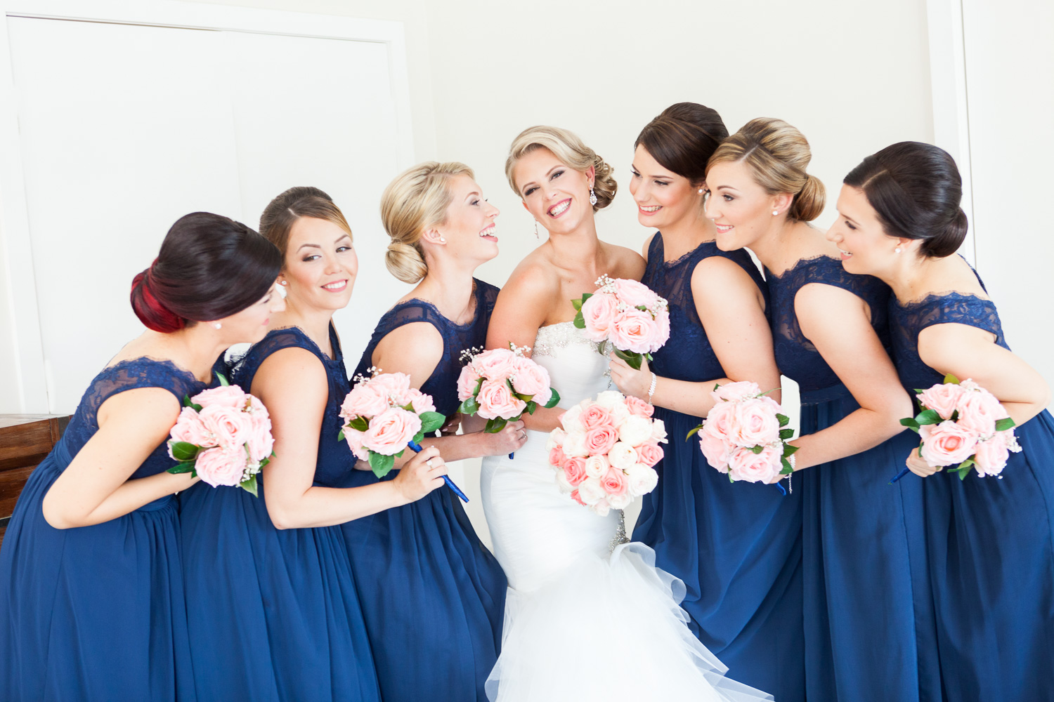 Bridesmaids navy