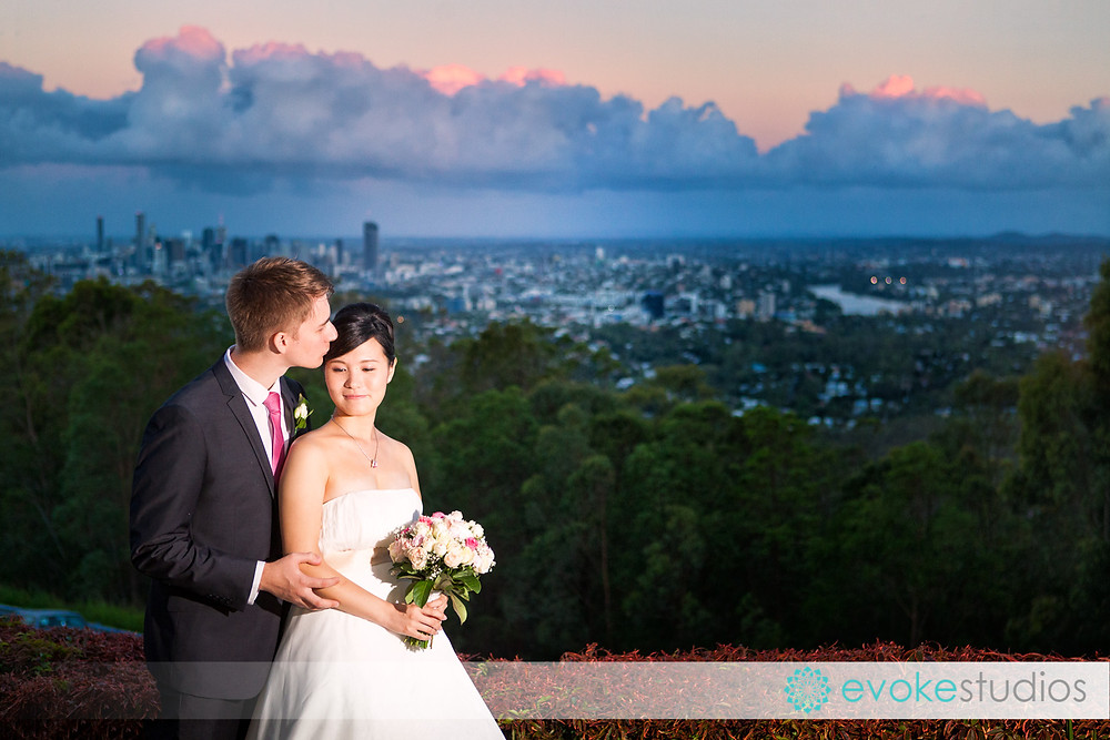 Sunset wedding the summit