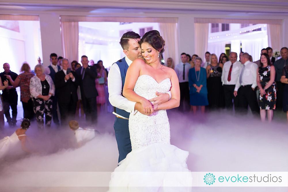 Dry ice bridal waltz