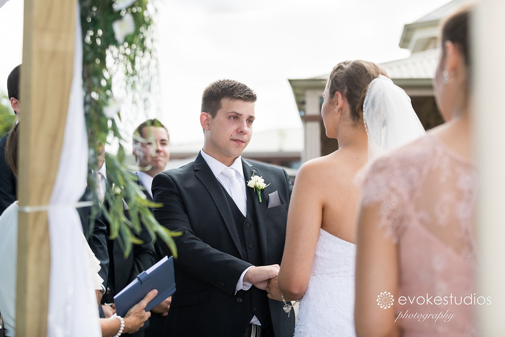 Garden ceremony wedding