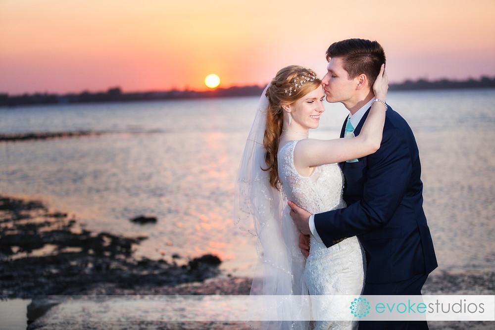 Cleveland sunset wedding photographer