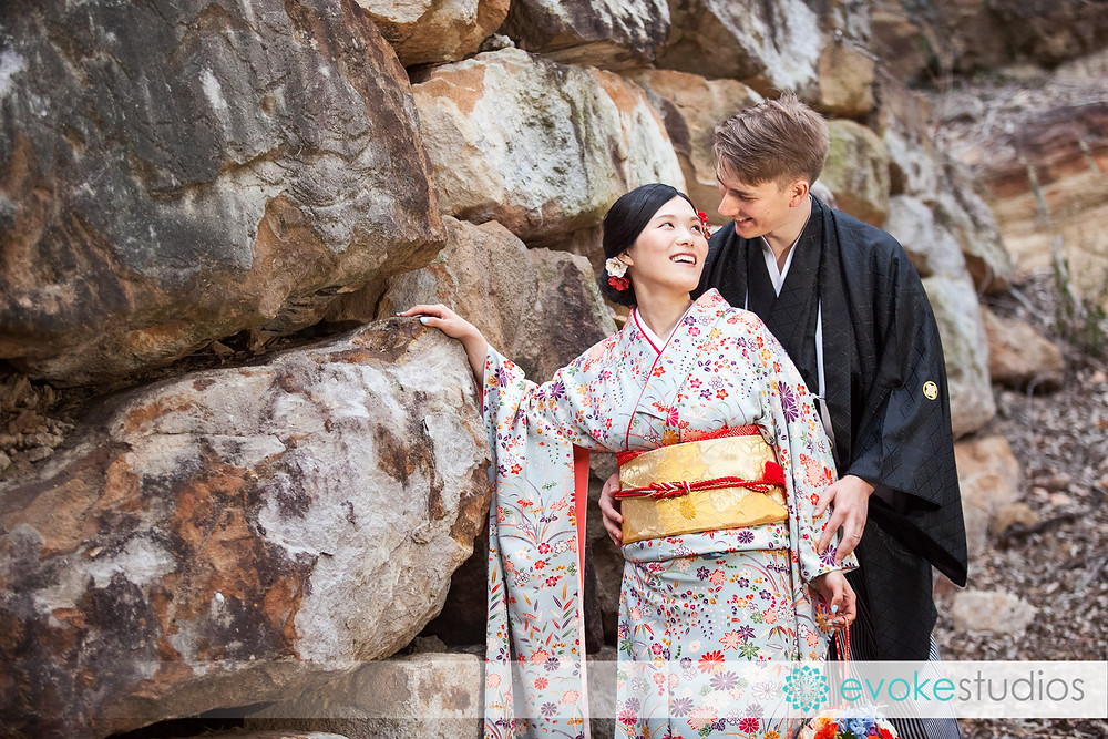 Wedding photographer brisbane Kimono