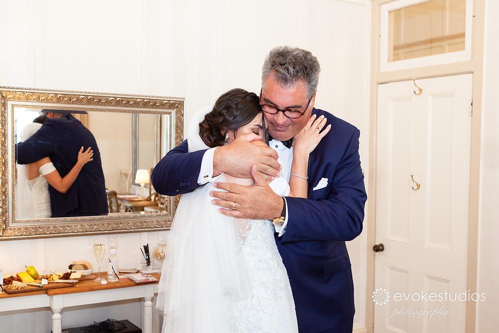 dad at wedding