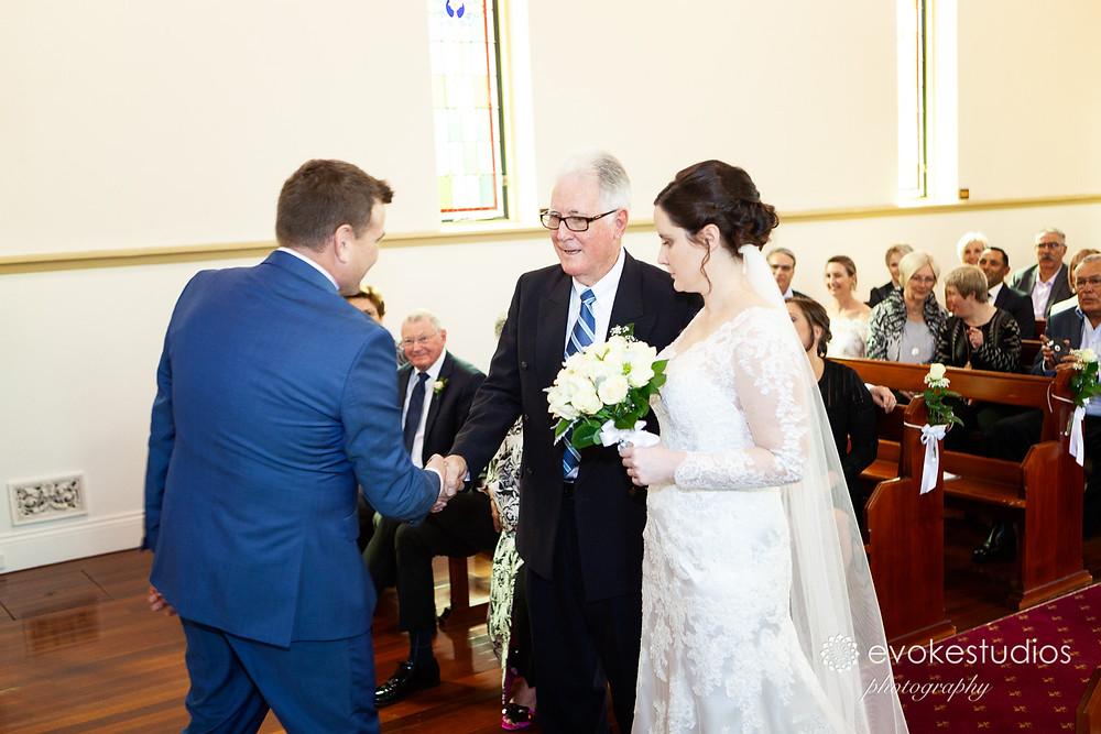 Lutheran Church bride arrival