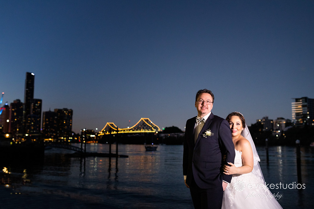 Story Bridge wedding photo