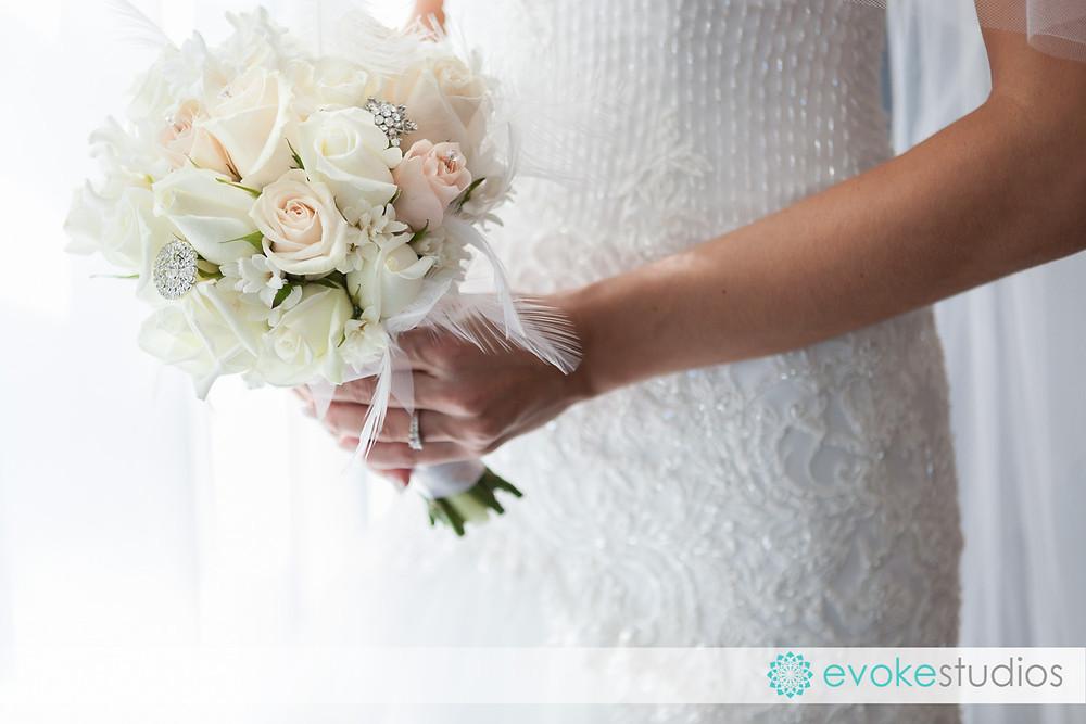Fleathers wedding bouquet