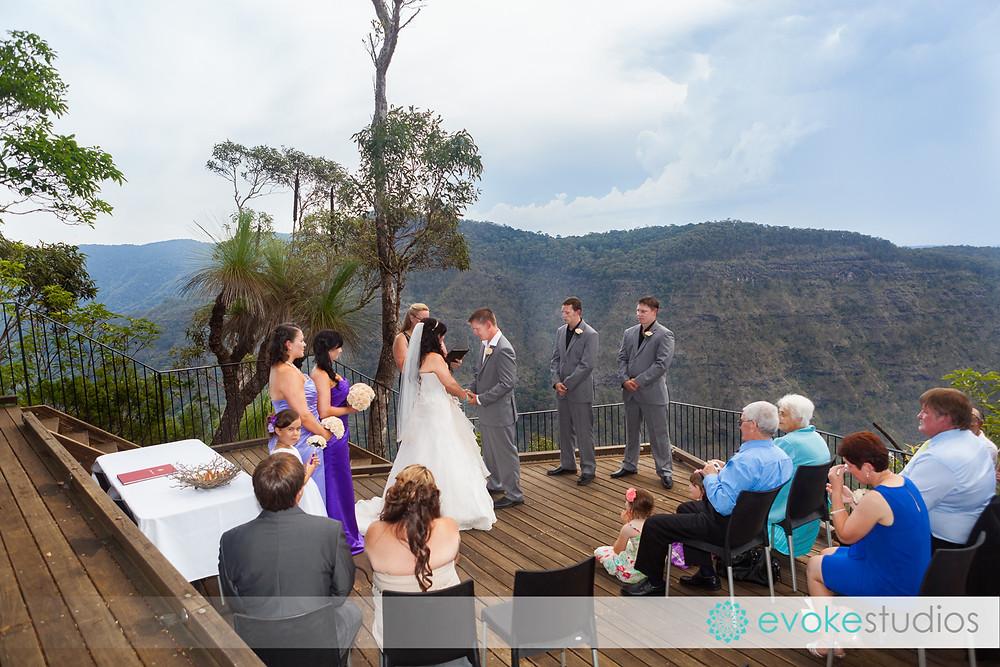 Wedding on a cliff