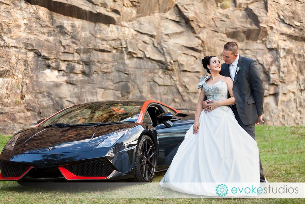 Lamborghini wedding car