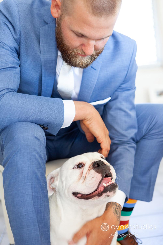 Groom with dog