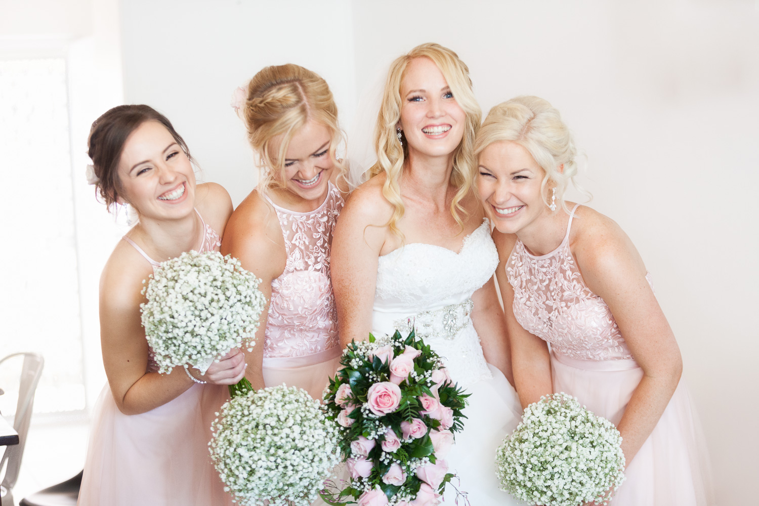 Bridesmaids dusty pink