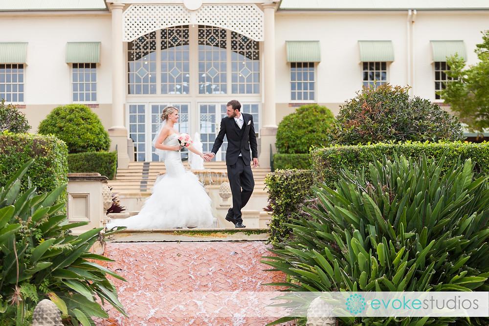 Bride & groom sancturary cove