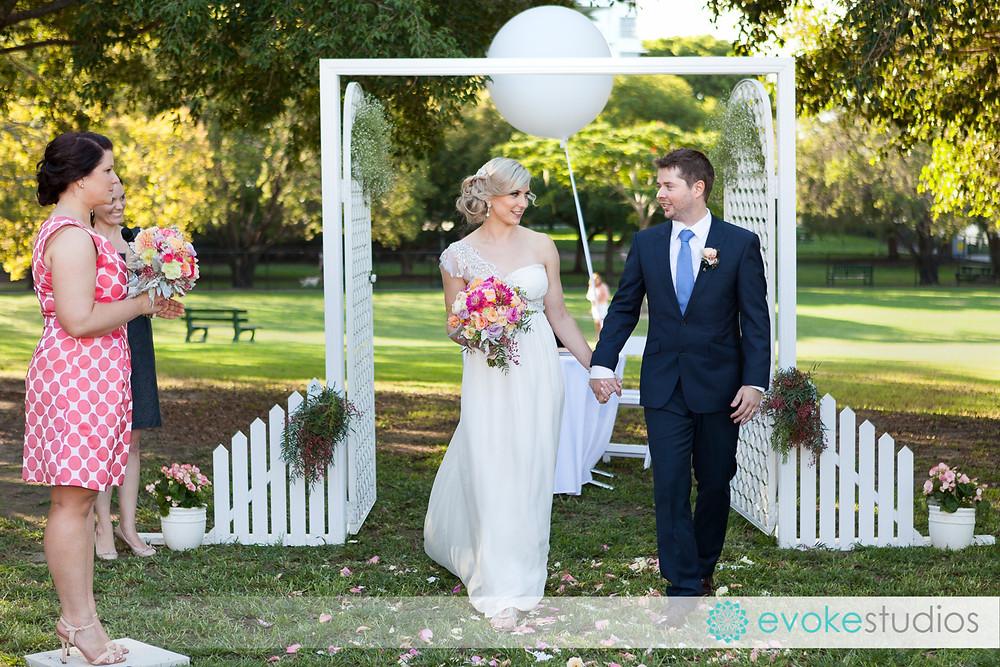 Wedding arch for garden wedding