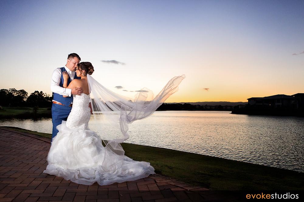 Gold Coast wedding sunset