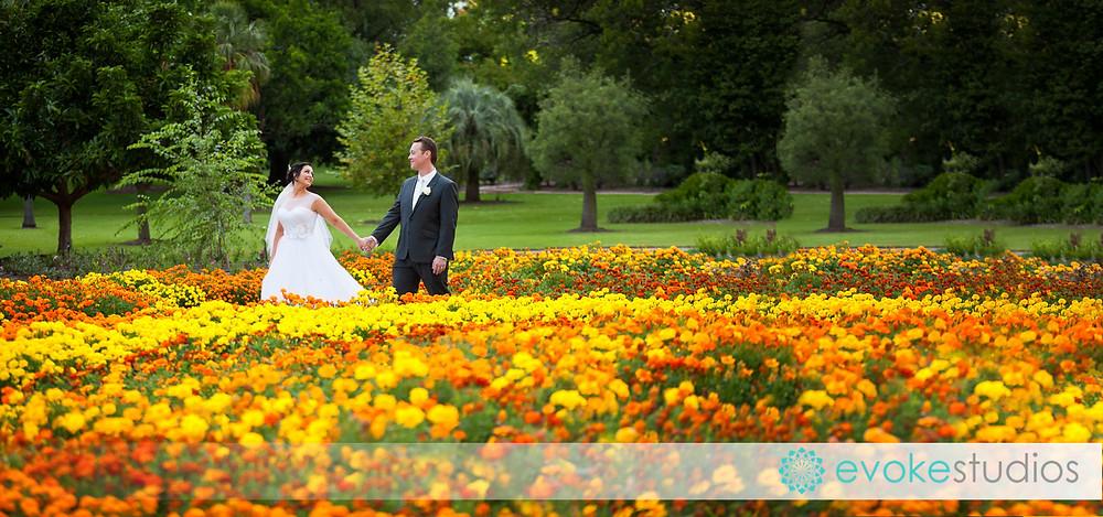 Botanical gardens wedding flowers