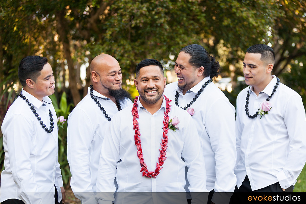 Samoan wedding party