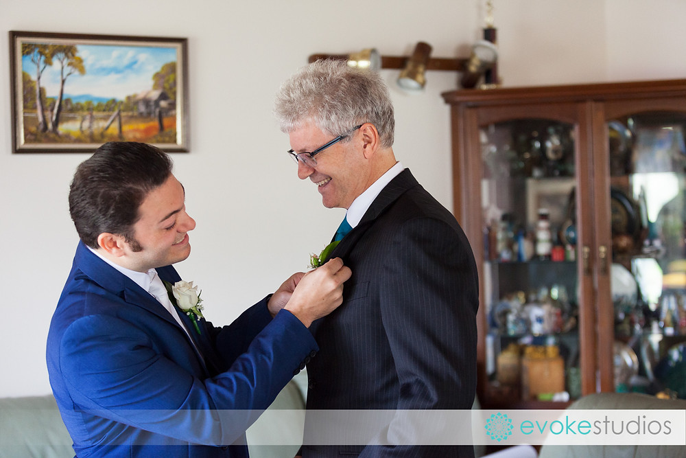 Groom & father